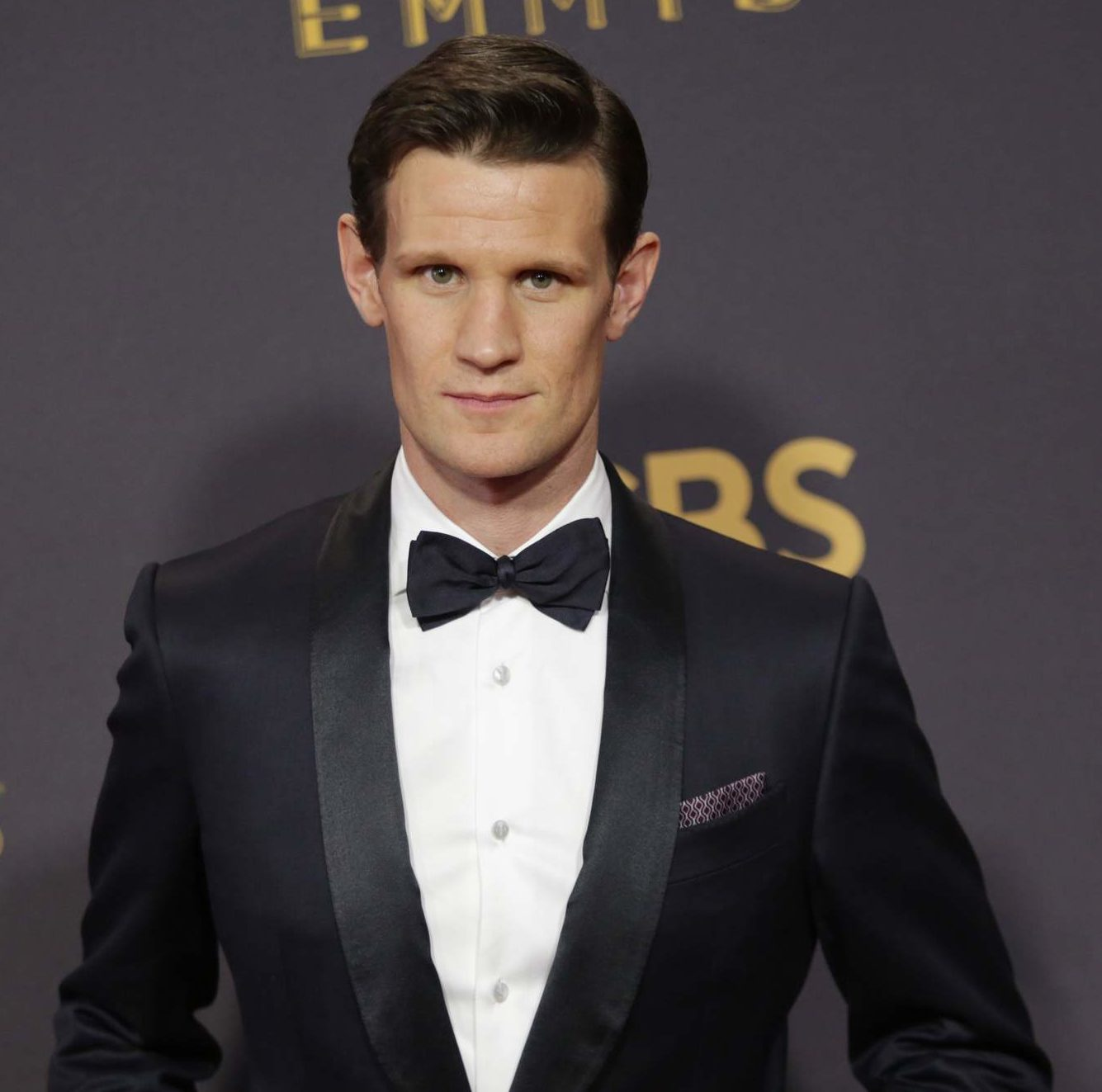 Matt Smith Emmy Awards 2017 brown hair smart comb over