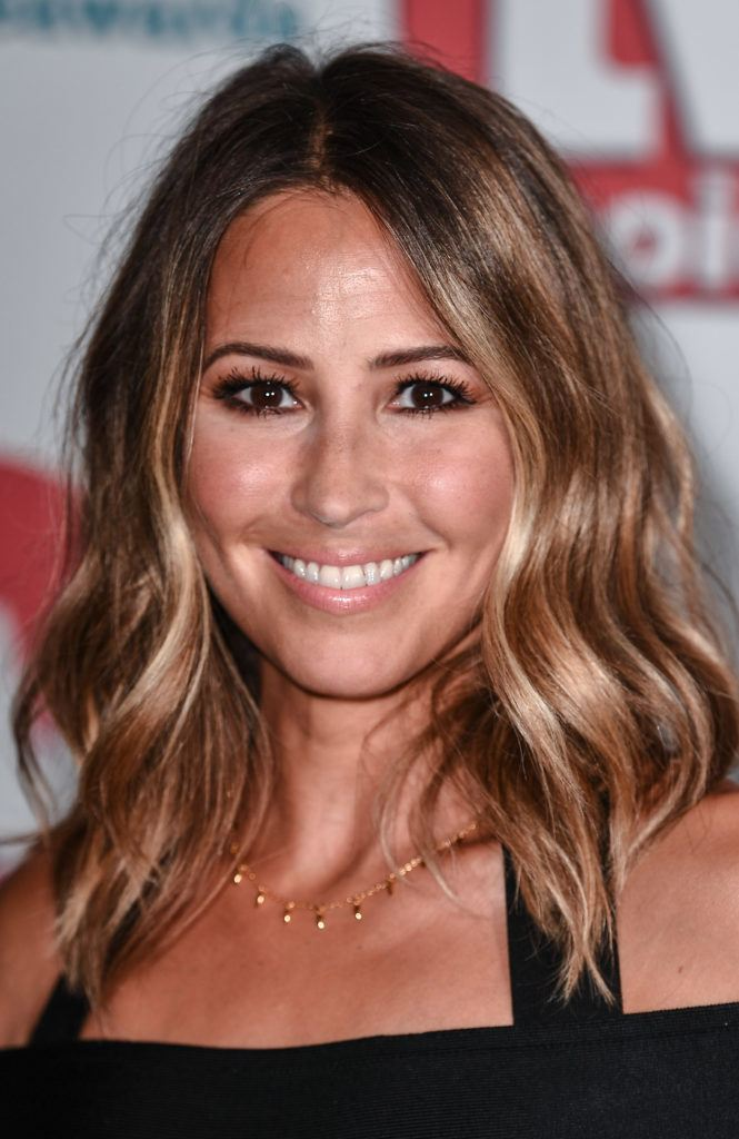 s club 7 star rachel stevens with her bronde hair in tousled waves