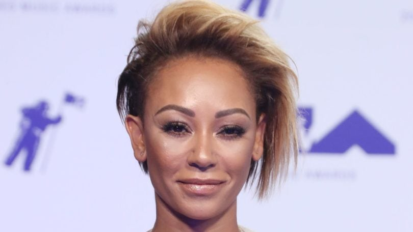 Mel B dark brown ombre short hair