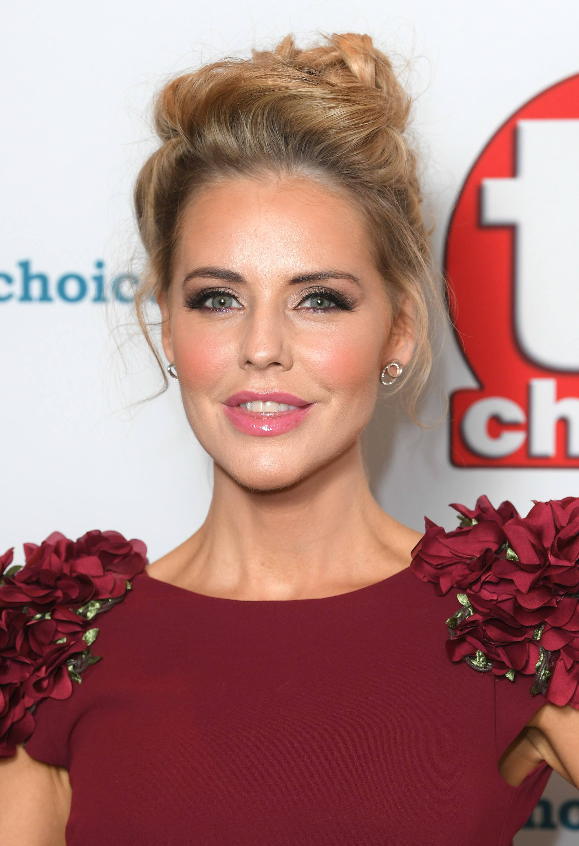 TV Choice Awards 2018 Hollyoaks actress Stephanie Waring with hair in an updo