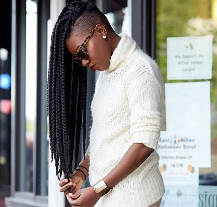 Black Ice Hair Spray >> Box braids with shaved sides: 6 stylish ways to rock the look | All Things Hair UK