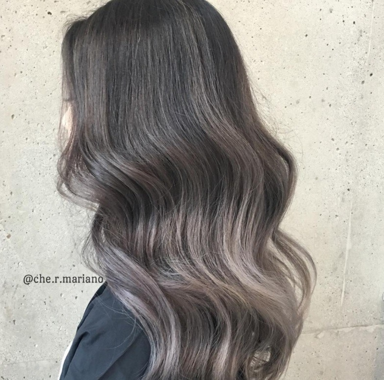 Black hair grey highlights the best black hair 2017 sleek wavy long and y ash brown hair grey highlights pmusecretfo Gallery