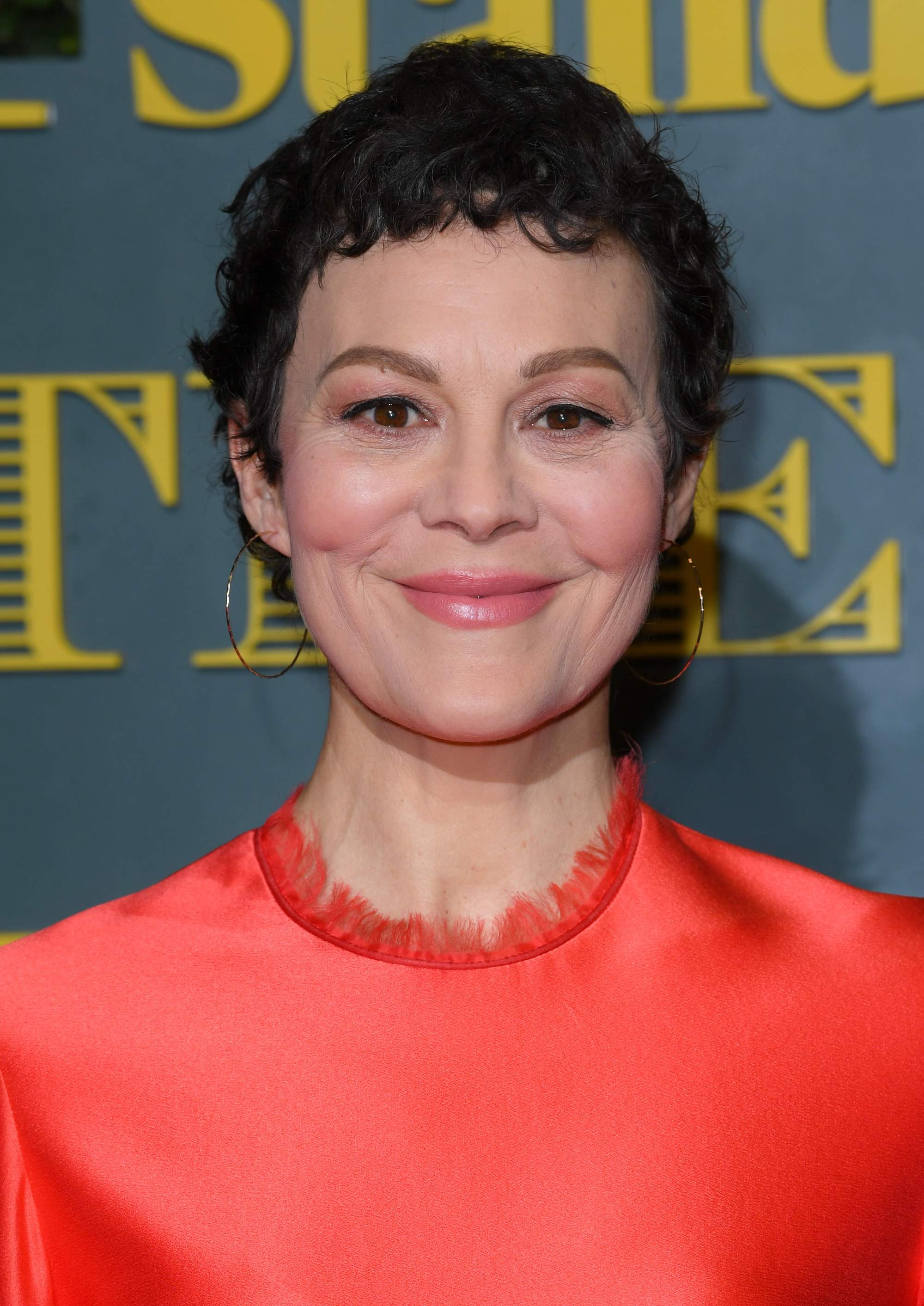 helen mccrory short brown curly pixie