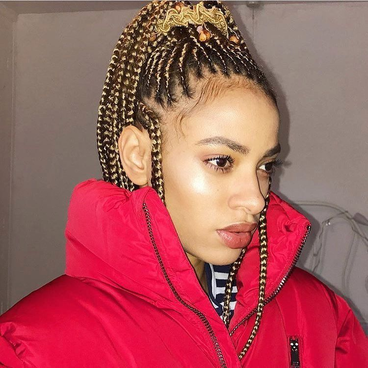 How long do box braids last girl with braids in ponytail