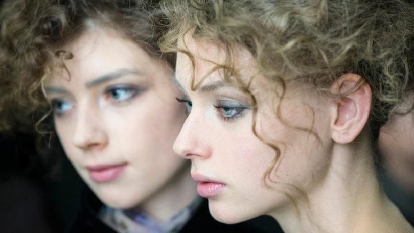 Soft hair care two women with curly hair backstage giorgio armani