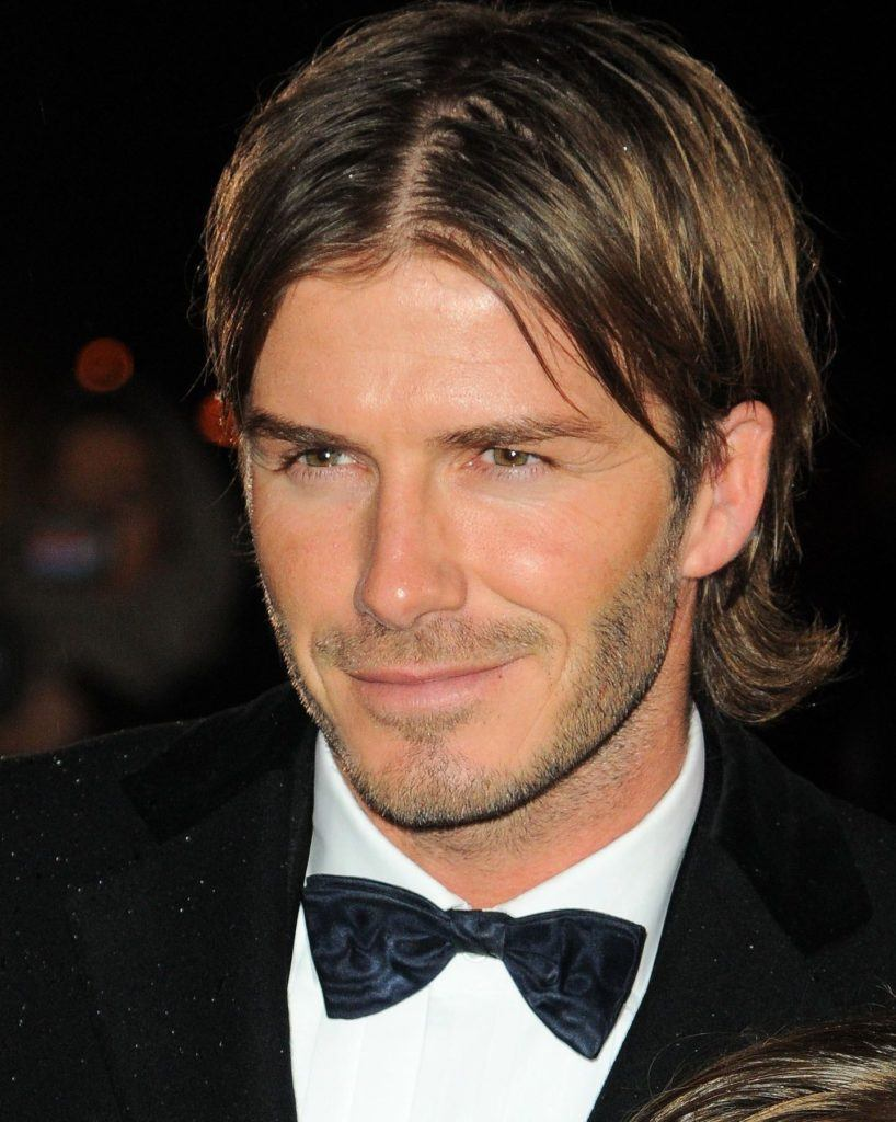 david beckham medium length flow hair