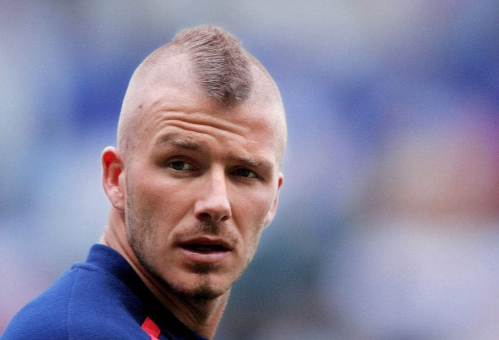 david beckham mohawk hairstyle