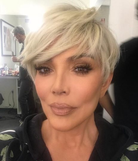 keeping up with the kardashians star kris jenner with platinum pixie hair