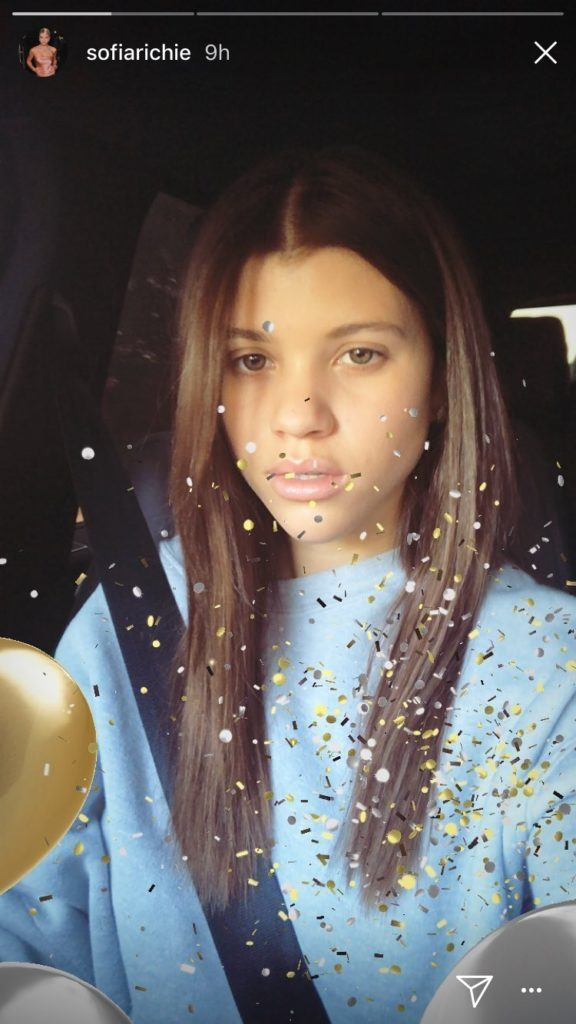 model sofia richie with new long dark hair