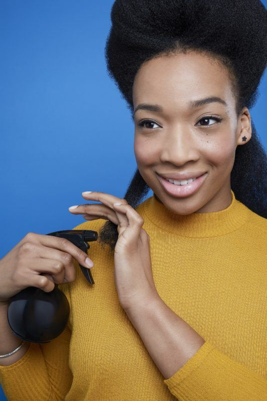 how to use rods on natural hair