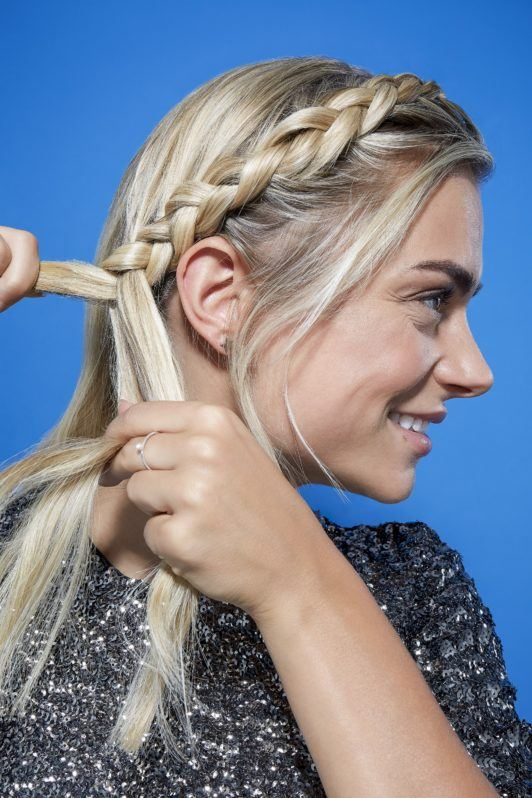 Crown braid for short hair follow your hairline