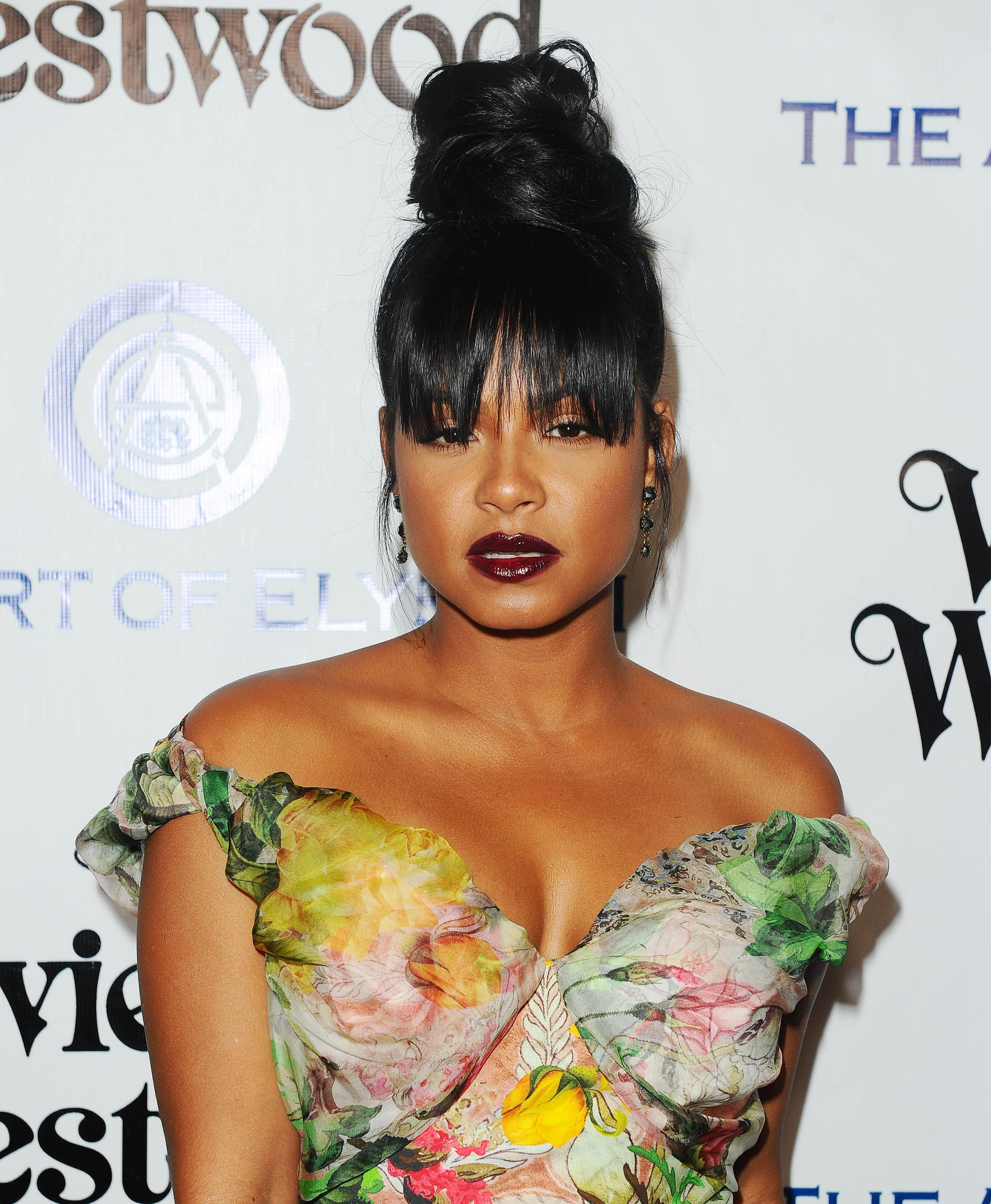Black Hairstyles With Bangs Close Up Shot Of Christina Millian Long And Top