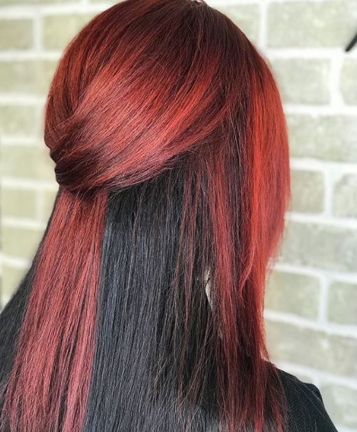 5 Beautiful Black And Red Hair Colour Ideas To Try In 2018 All