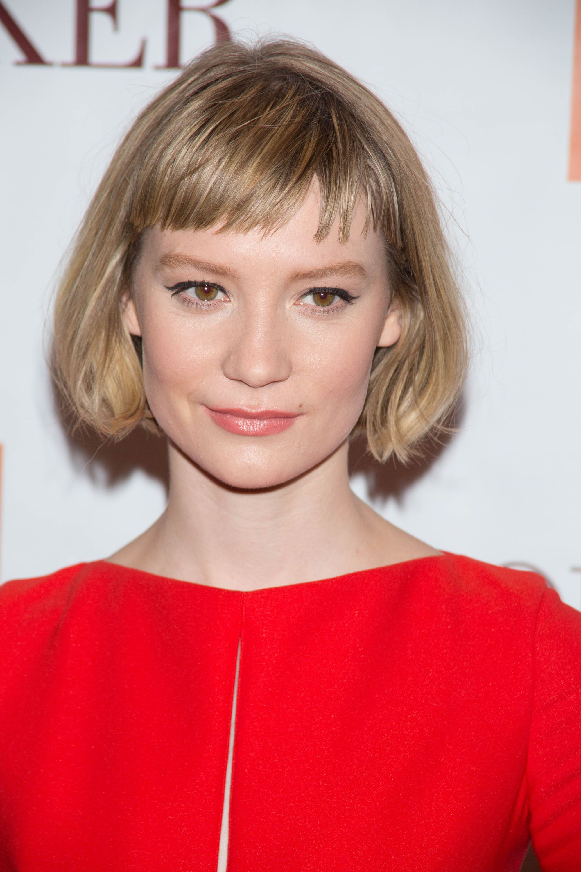 Mia Wasikowska Blonde Bob With Short Fringe