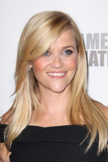 reese witherspoon with long graduated side swoop bangs
