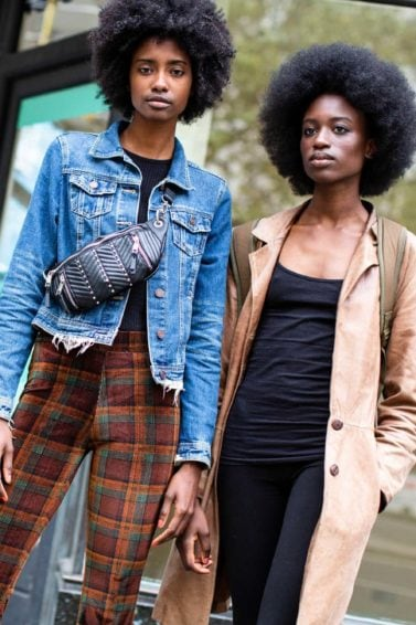 Short black hair ideas: two black women with afros