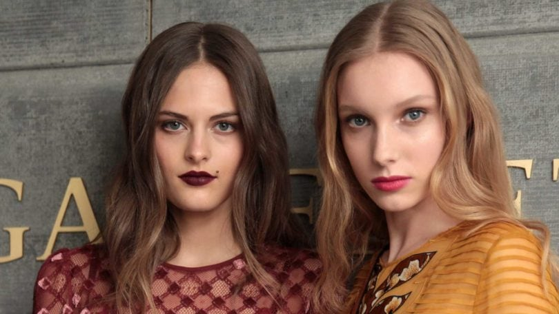 models backstage with brown and blonde hair