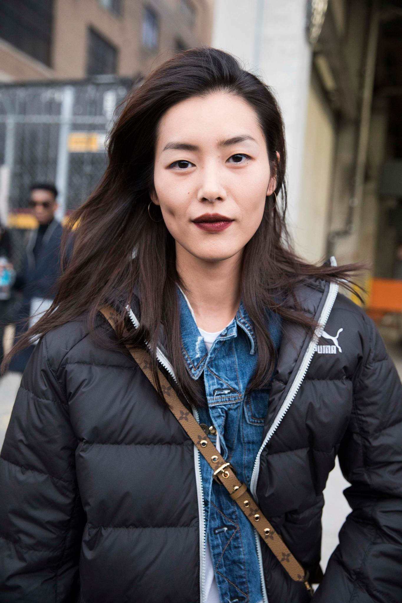 Asian woman with thick hair