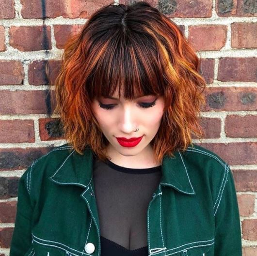 All The Copper Highlights Hair Inspiration You Will Need All