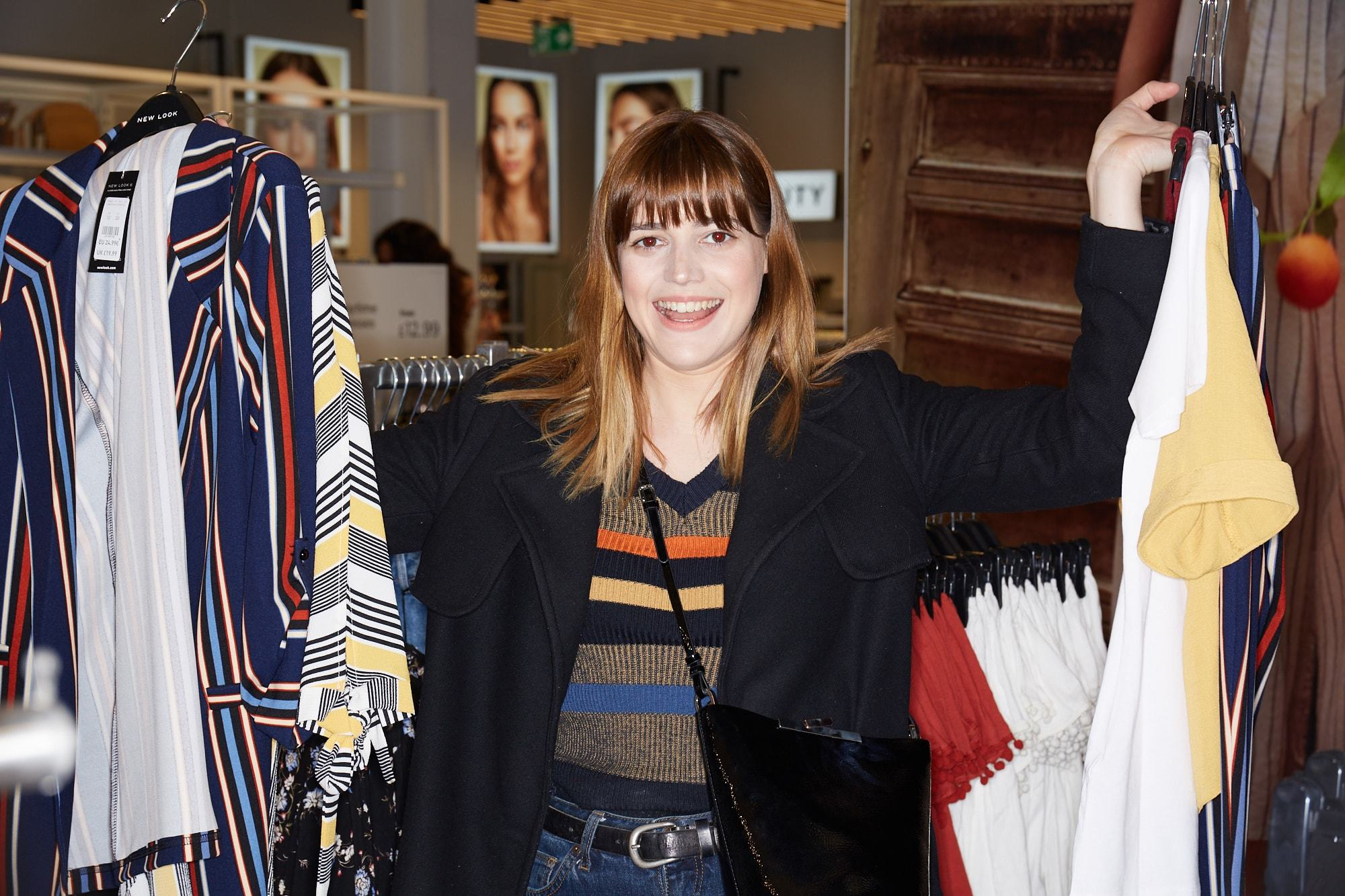 Influencer Julia in Disguise at New Look Store opening with VO5
