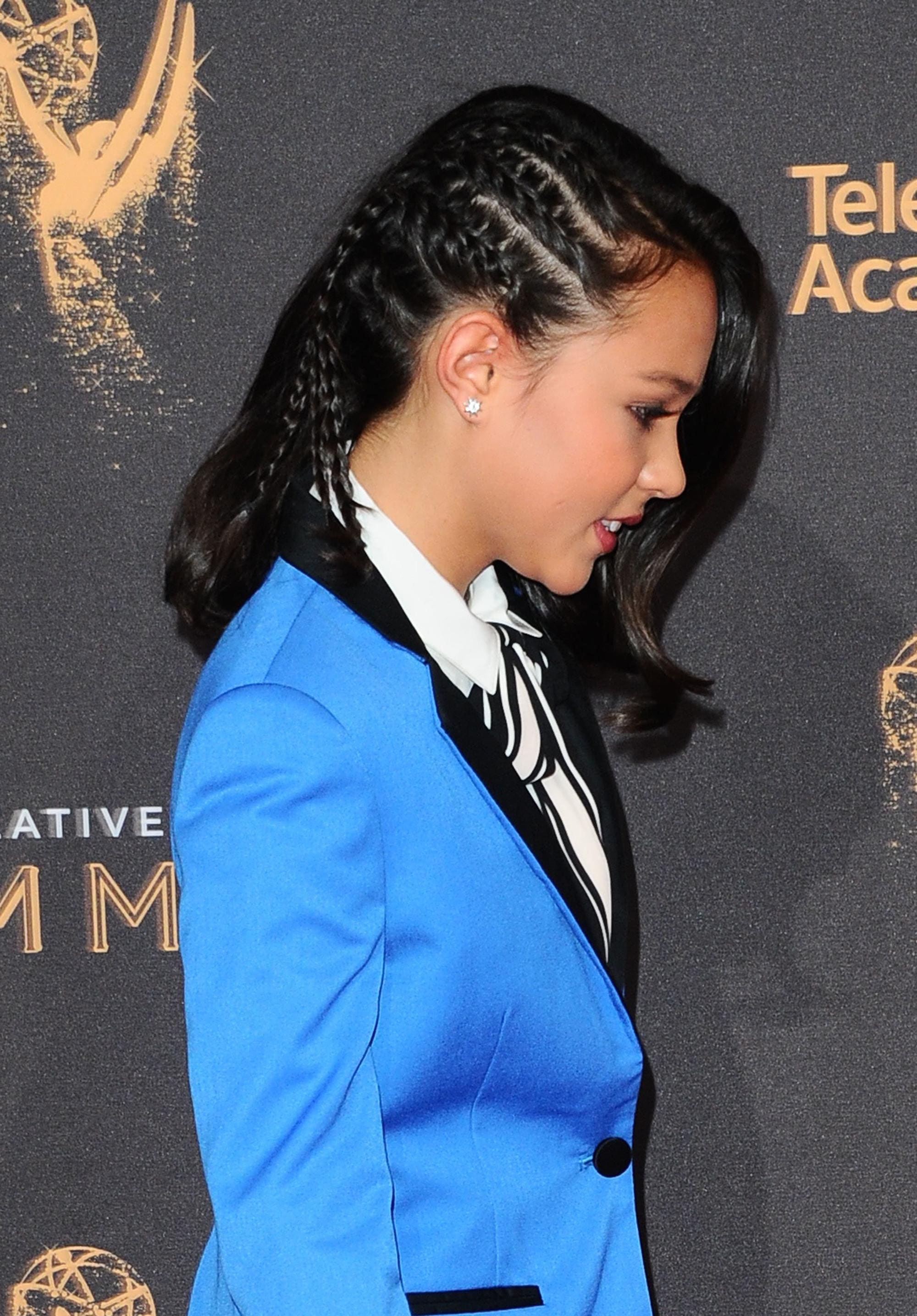 Side cornrows worn by Breanna Yde at the Creative Arts Emmy Awards, Arrivals, Los Angeles, USA - 10 Sep 2017 2017