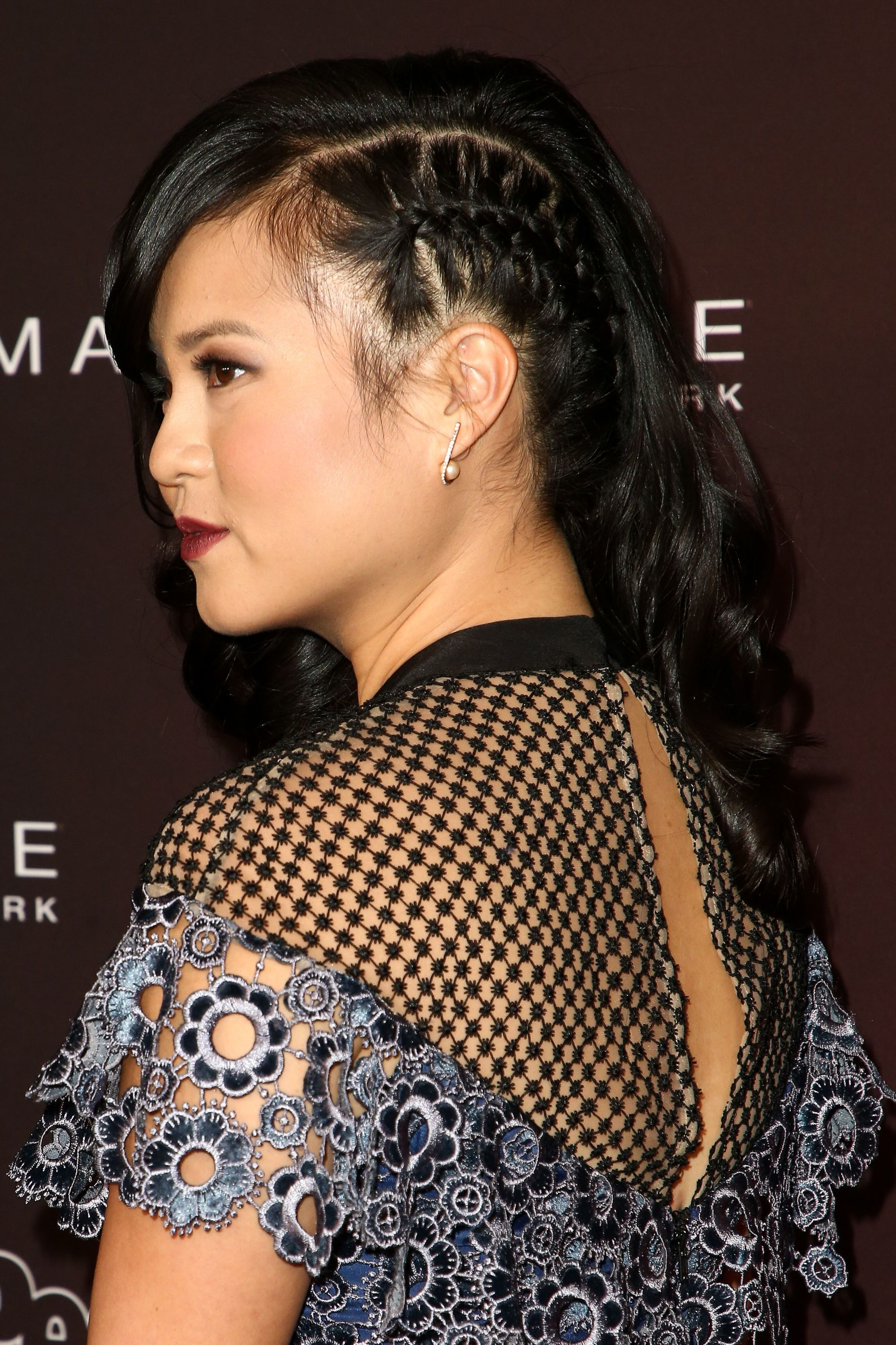 side braids for long hair: Kelly Marie Tran 5th Annual People Magazine 'Ones To Watch' Party, Los Angeles, USA - 04 Oct 2017