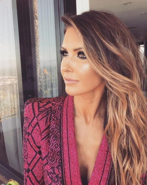 photo of audrina patridge from the hills with long honey brown hair swept to one side