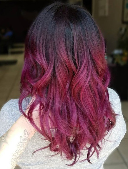 Top 10 Red Purple Hair Ideas This Season S Biggest Colour