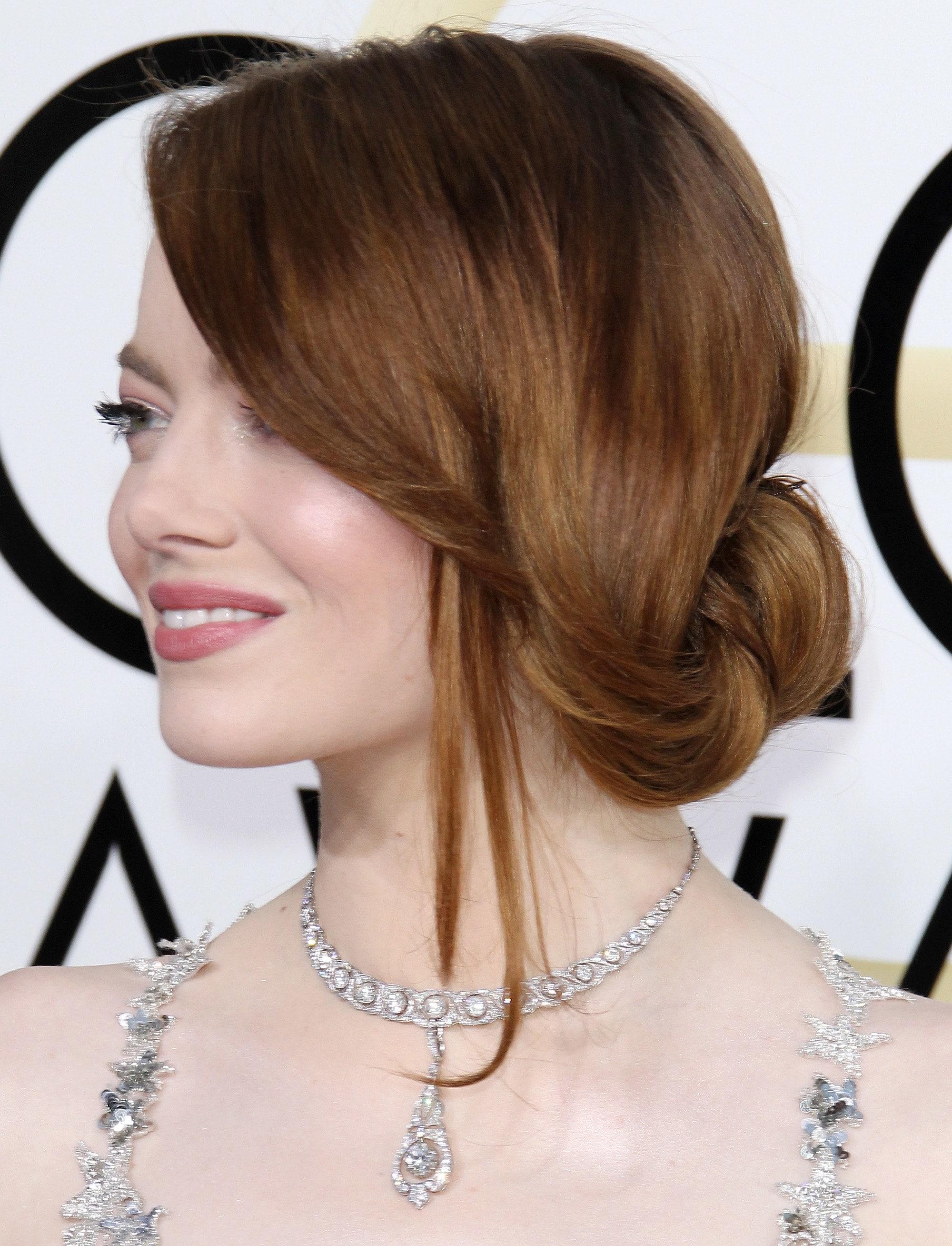 Emma Stone Chignon Hairstyles