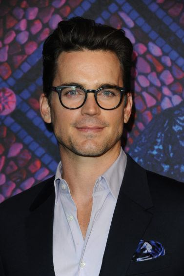 Hairstyles for men over 40: Photo of Matt Bomer with dark brown slicked quiff hair