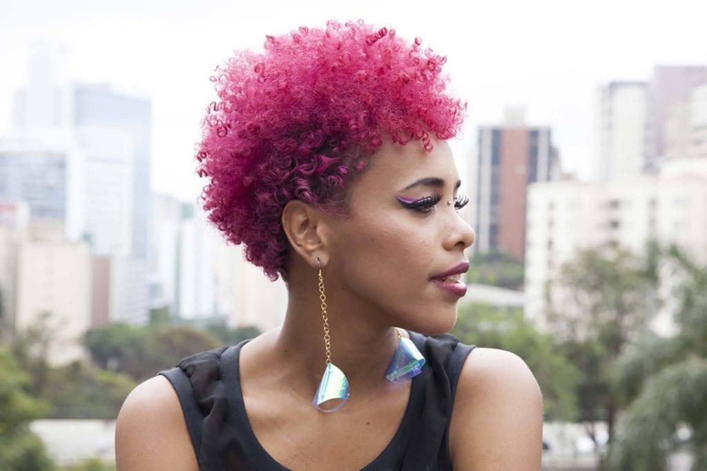 Tinte de pelo rosado