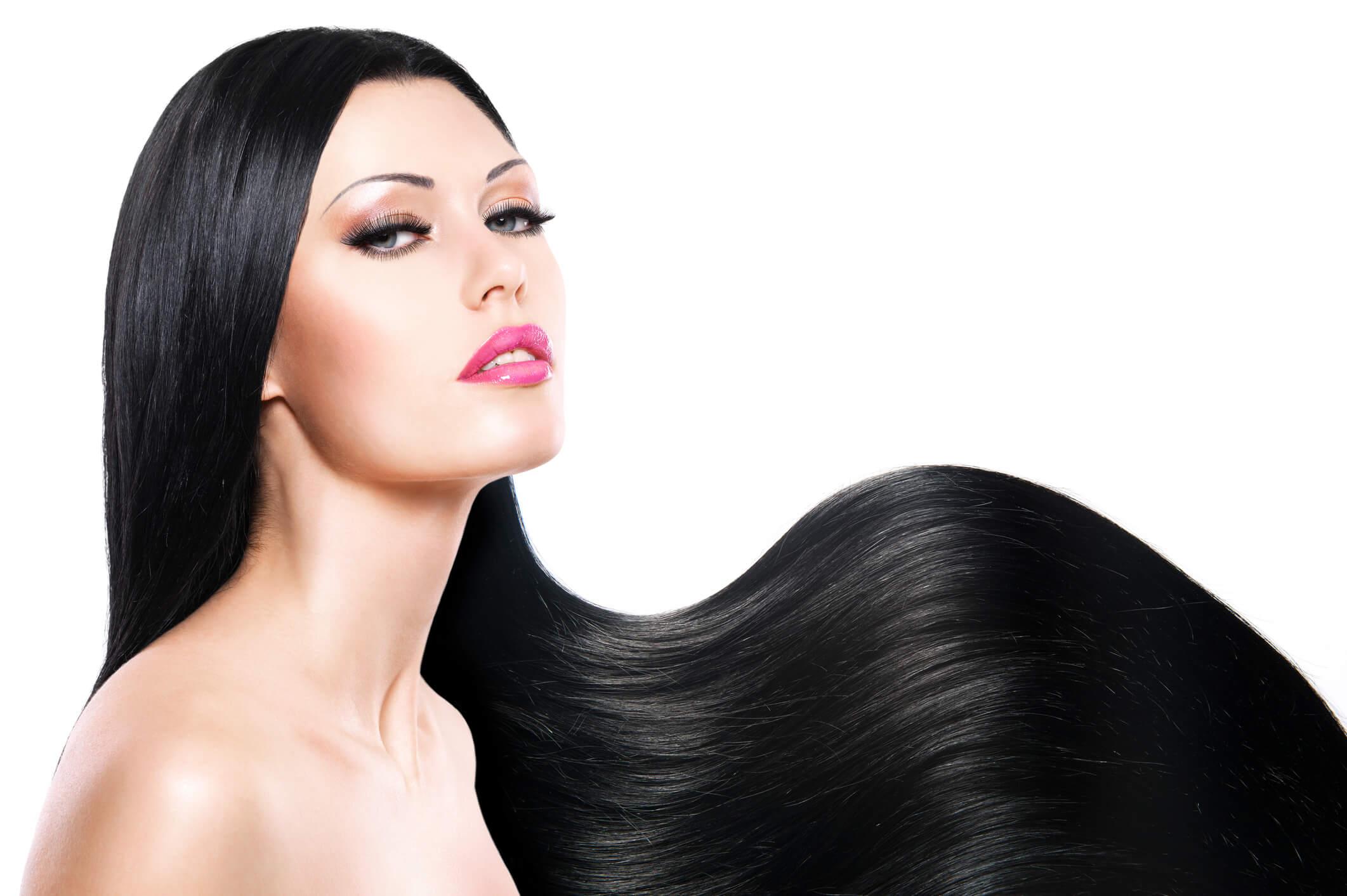 cabello lacio pelo negro