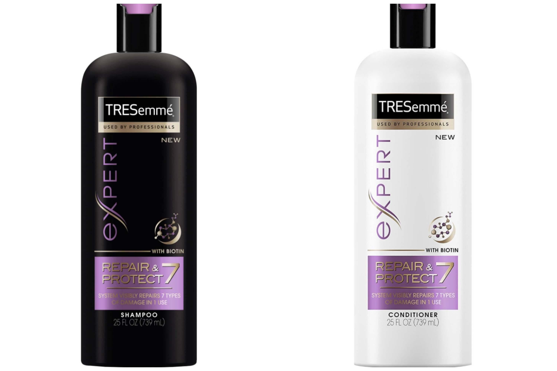 productos de cabello para la playa champú y acondicionador