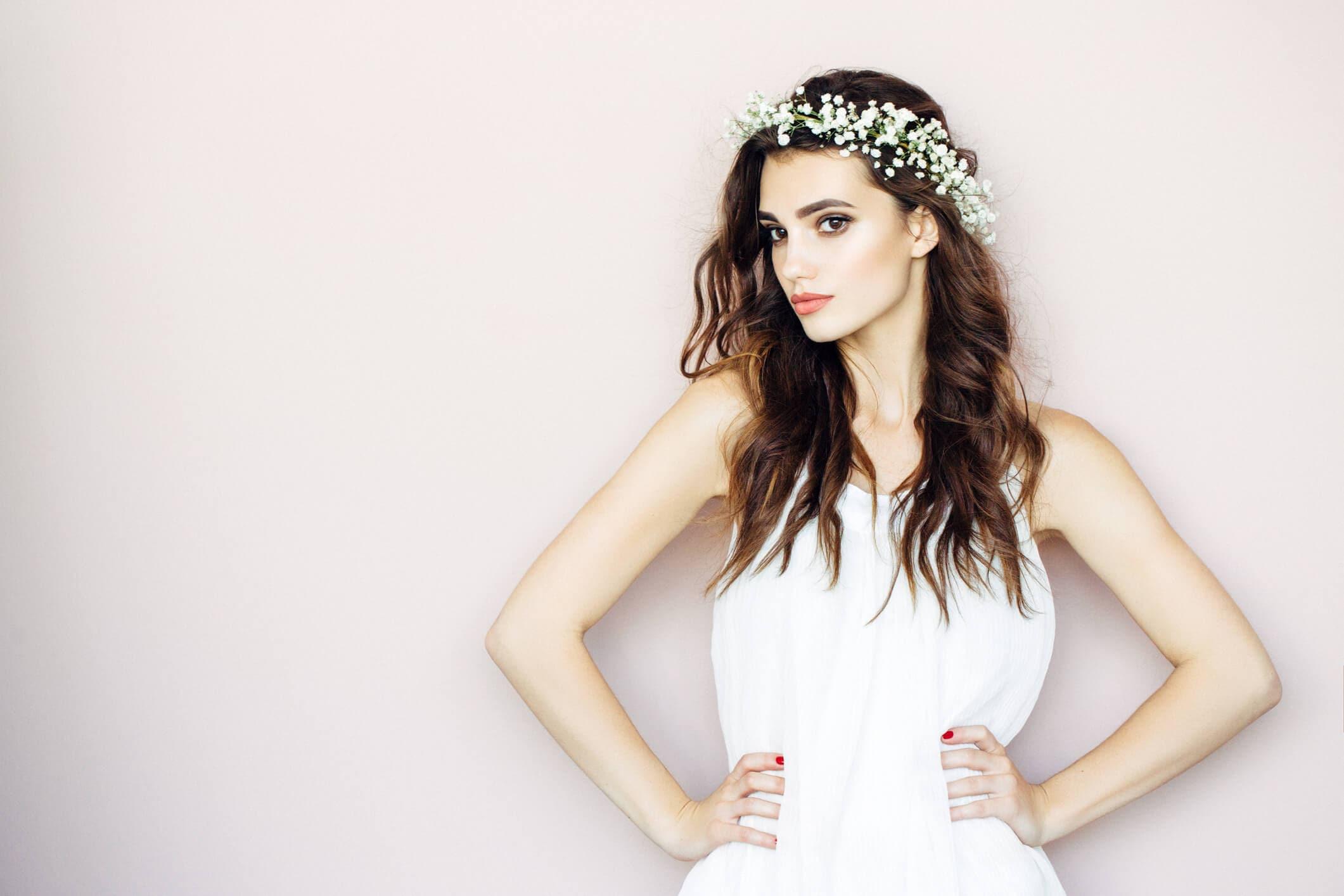 flores de novia para el pelo corona