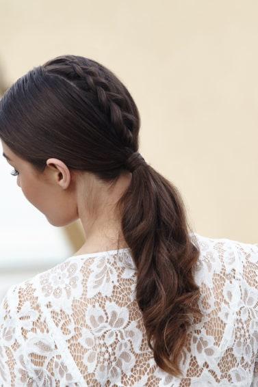 cola de unicornio cabello largo