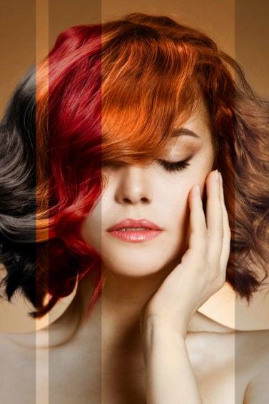champú para el cabello teñido pelo multicolor