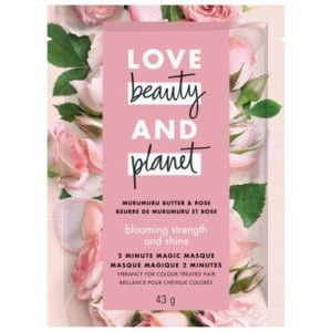LOVE BEAUTY and PLANET CITRUS MURUMURU BUTTER & ROSE 2 MINUTE MAGIC MASQUE