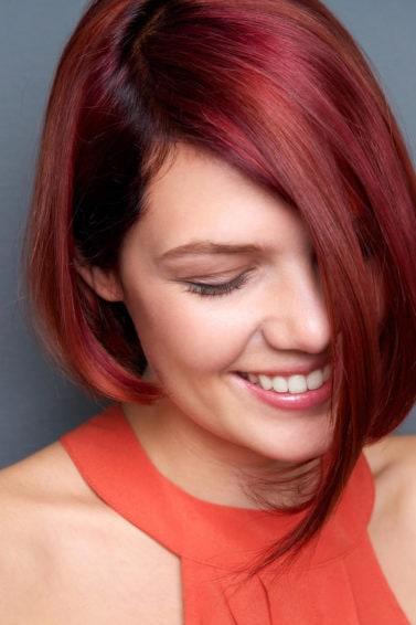 cabello rojo corto