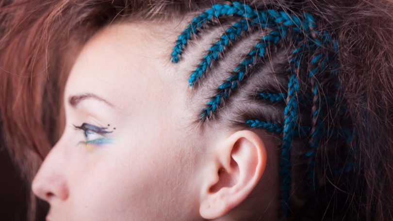 trenzas crochet azules