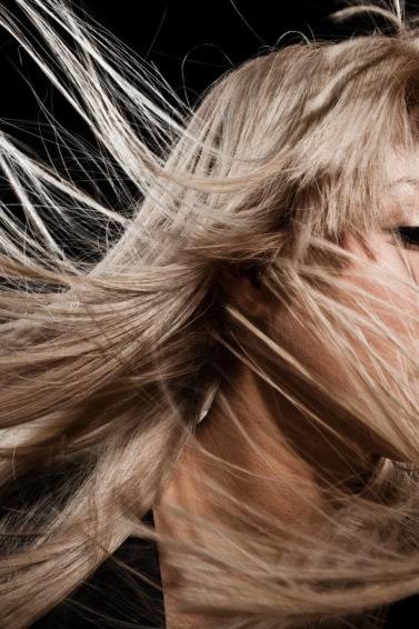 mechas en cabello largo pelo rubio