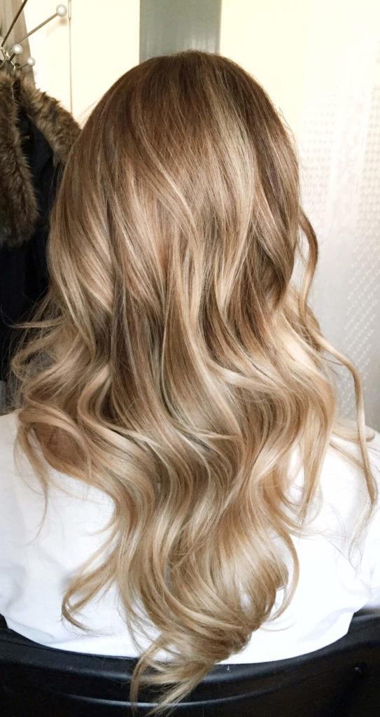 balayage en cabello liso