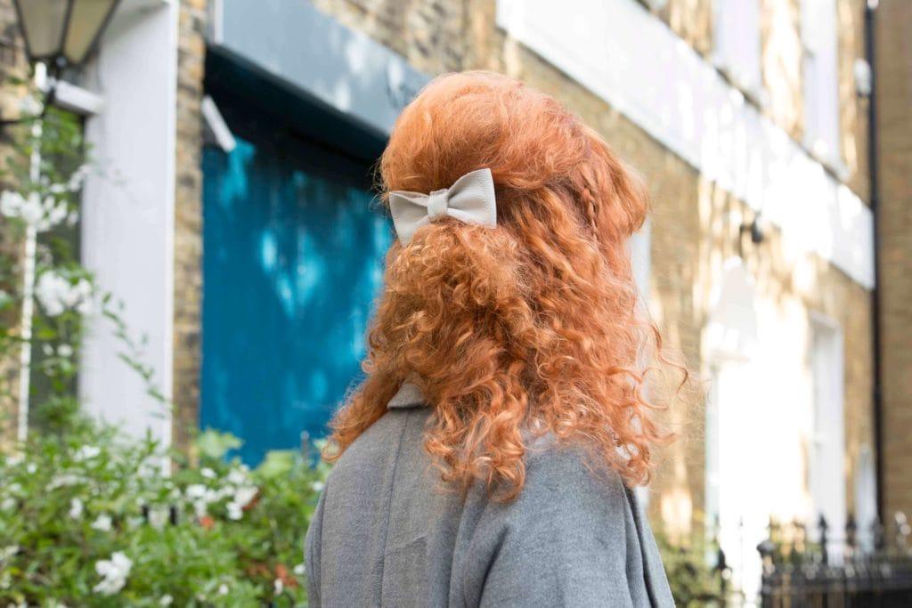 peinados medio recogidos vintange