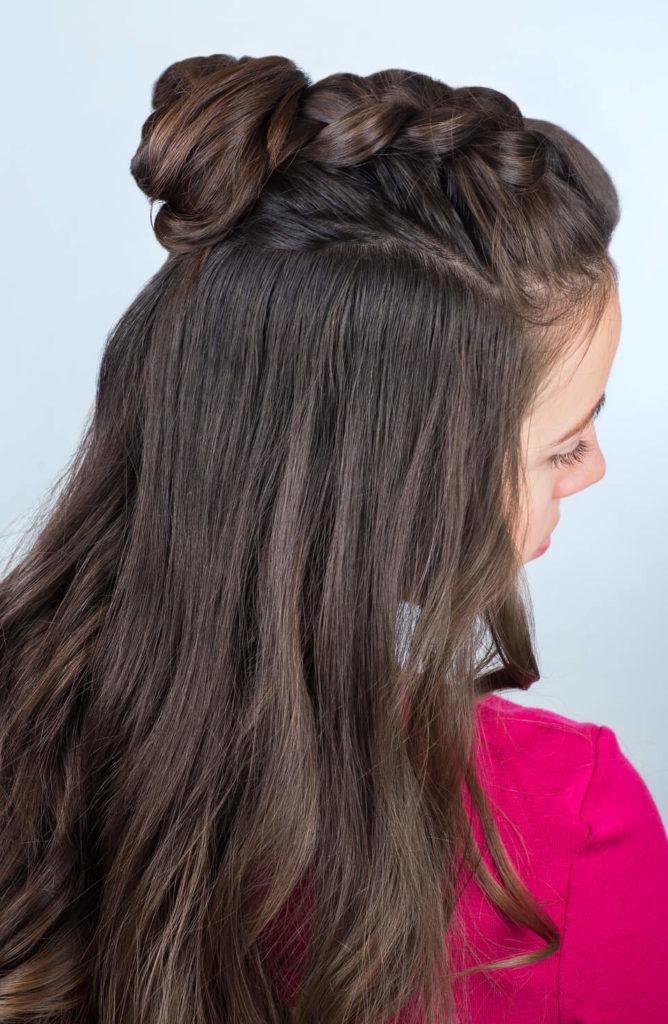 peinados medio recogidos trenza de raíz