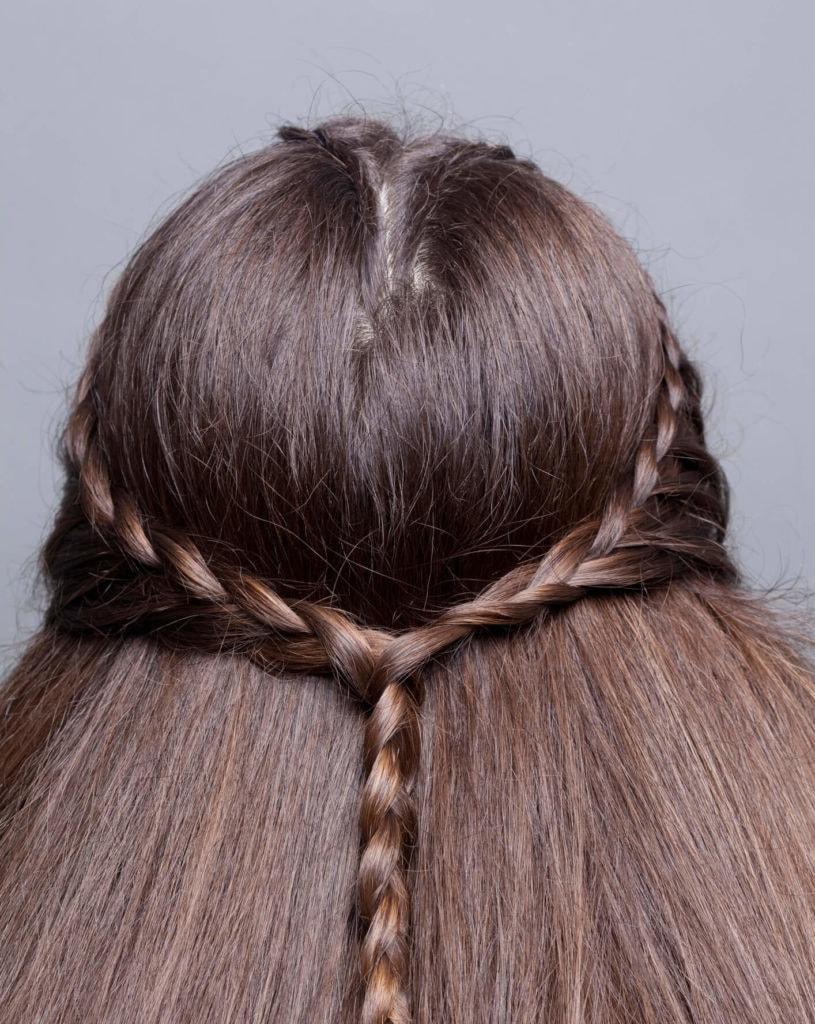 trenzas fáciles para cabello corto medieval