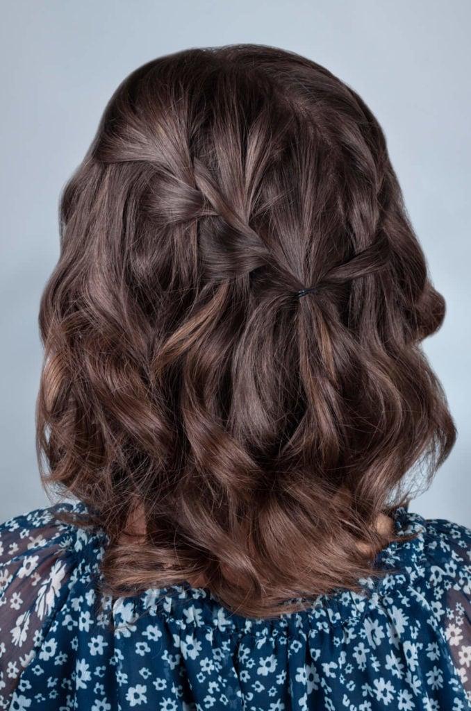 trenzas fáciles para cabello corto trenza cascada