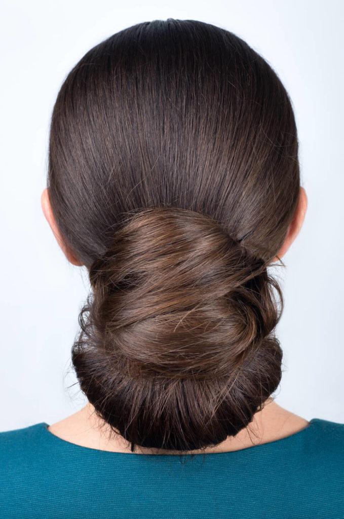 peinados elegantes recogidos abanico bajo