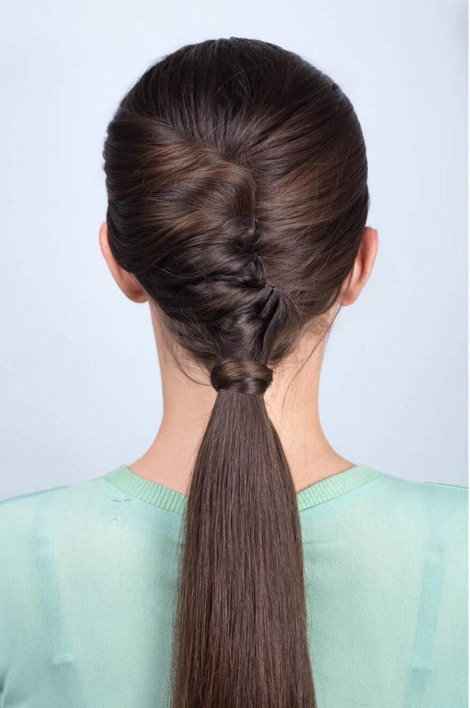 peinados retorcidos media cola retorcida