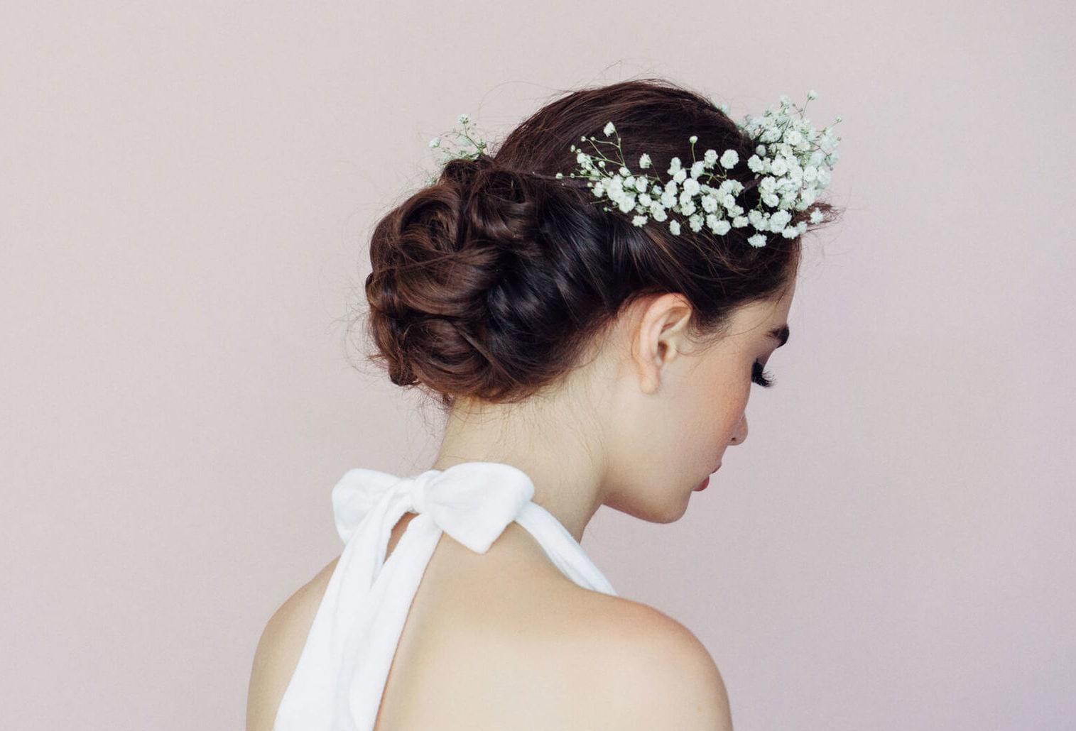 peinados para boda de noche nudo enredado