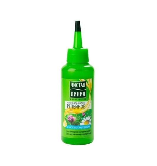 Чистая Линия масло для волос 5в1 Репейное
