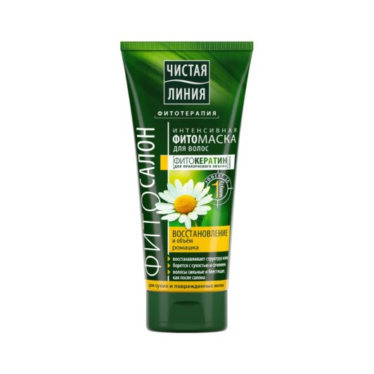 Чистая Линия фито-маска для волос Восстановление и объем